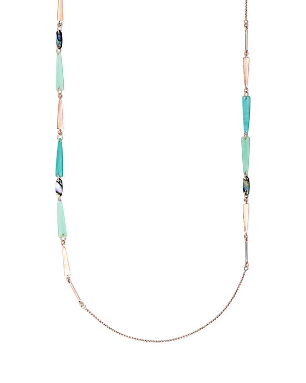 Kendra Scott Aylin Necklace - Rose Gold Abalone Mix