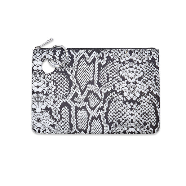 O-Venture Large Silicone Pouch - Tuxedo Snakeskin