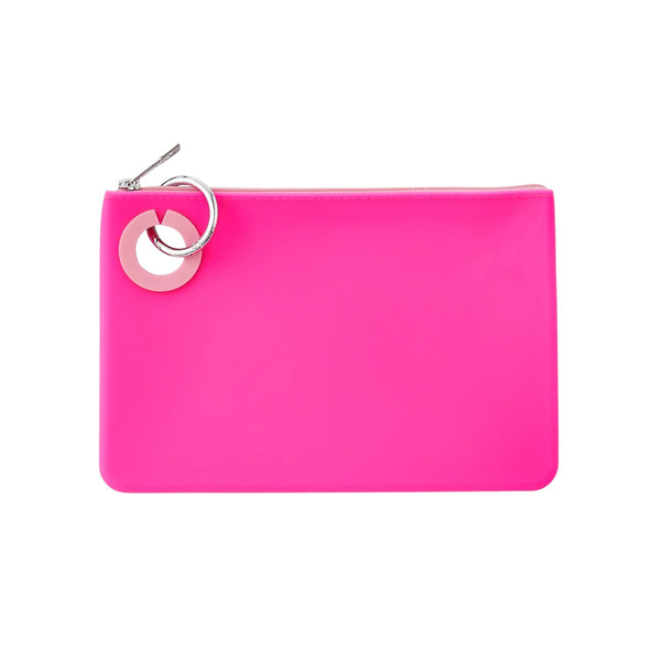 O-Venture Large Silicone Pouch - Tickled Pink