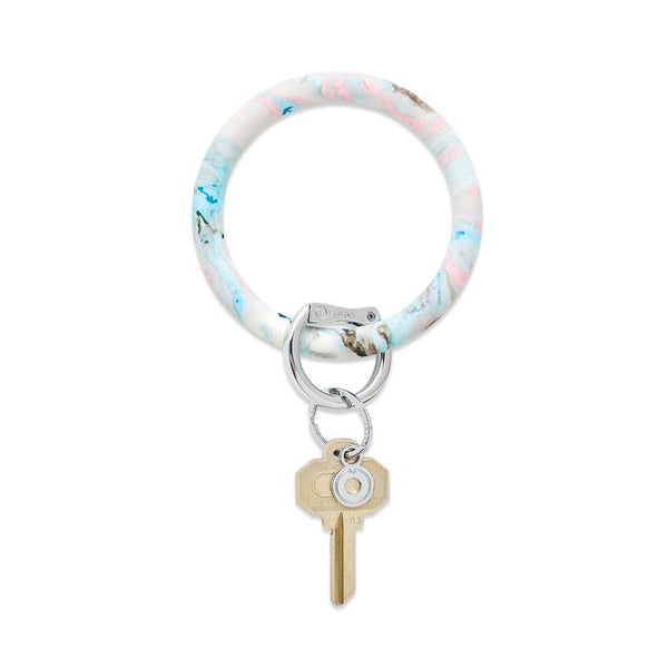 Big O Key Ring - Pastel Marble Silicone