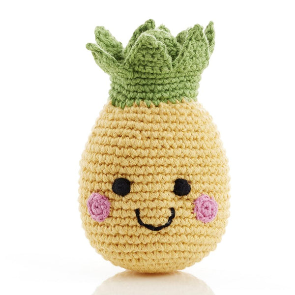 Pebble Rattle - Smiling Pineapple