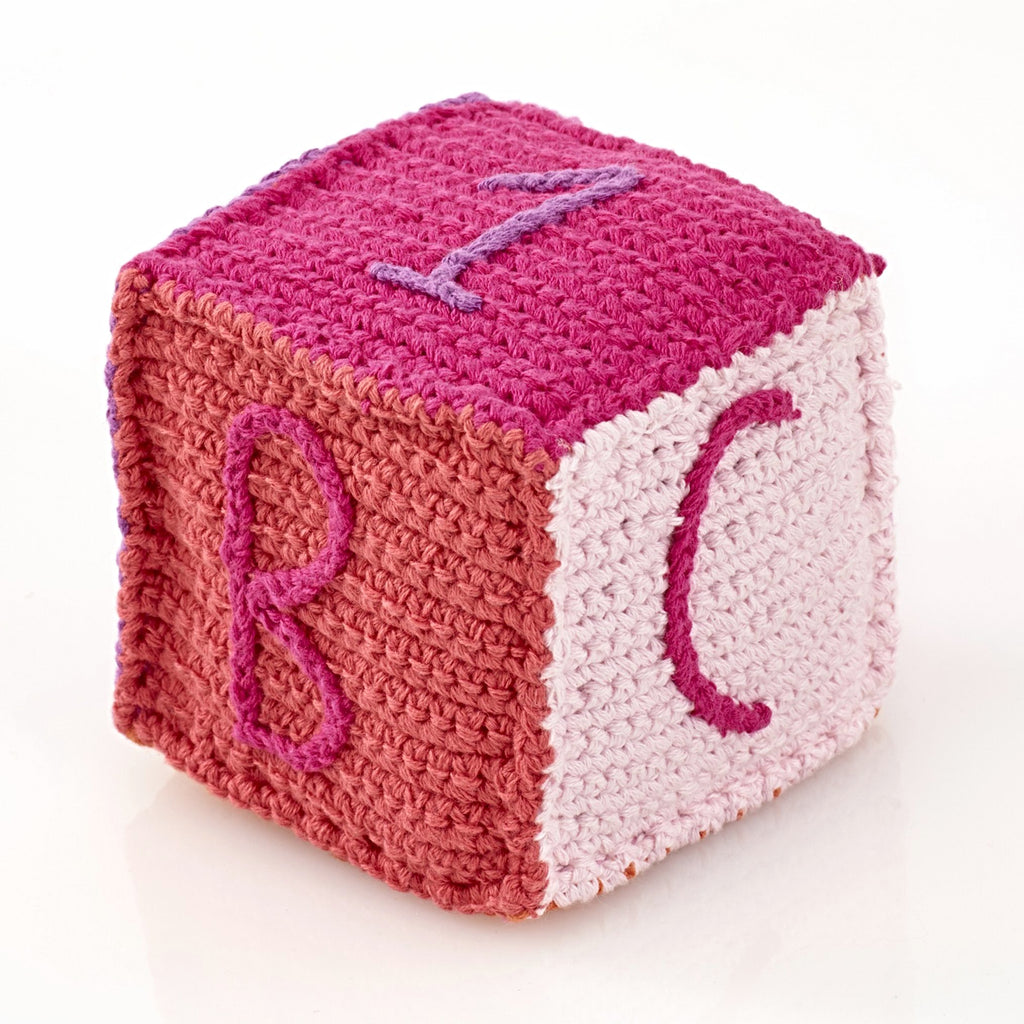 Pebble Rattle - Pink Block
