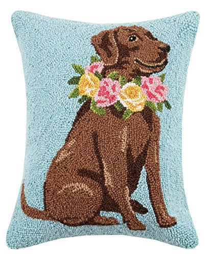 Peking Handicraft - Brown Lab Pillow