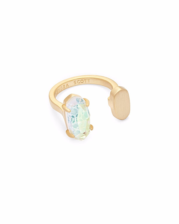 Kendra Scott Pryde Ring - Gold Dichroic Glass