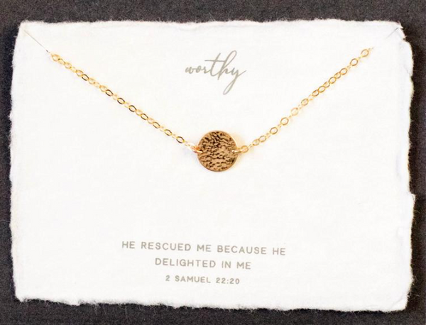 Dear Heart Design Worthy Necklace - Gold