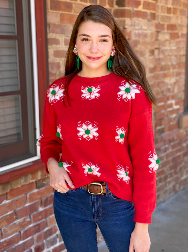 Holly Sweater - Red/Multi