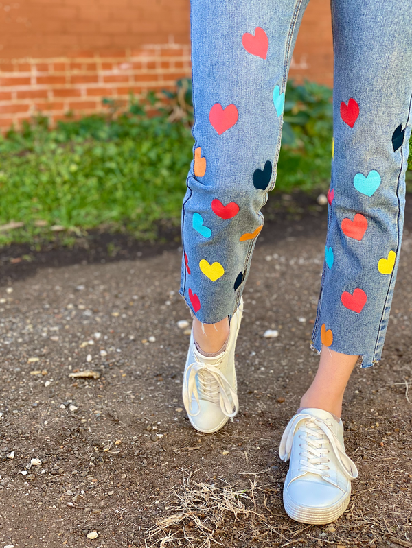 Darla Heart Jean - Classic Denim/Multi