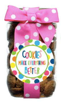 Oh Sugar Chocolate Chip Cookies Pint Jars - Pink Cookies Make Everything Better