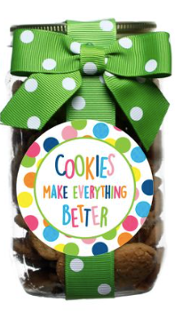 Oh Sugar Chocolate Chip Cookies Pint Jars - Green Cookies Make Everything Better