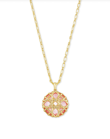 Kendra Scott Natalie Pendant Necklace - Gold/Rose Mother Of Pearl