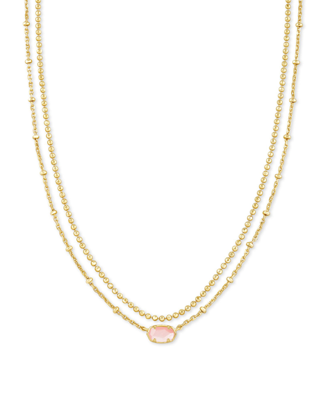 Kendra Scott Emilie Multi Strand Necklace - Gold/Rose Mother Of Pearl