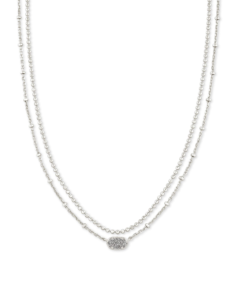 Kendra Scott Emilie Multi Strand Necklace - Silver/Platinum Drusy
