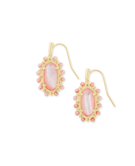 Kendra Scott Beaded Lee Earring - Gold/Rose Mother Of Pearl