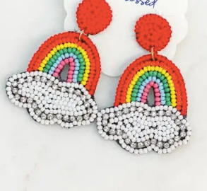 Beaded Rainbow Earrings - Multi