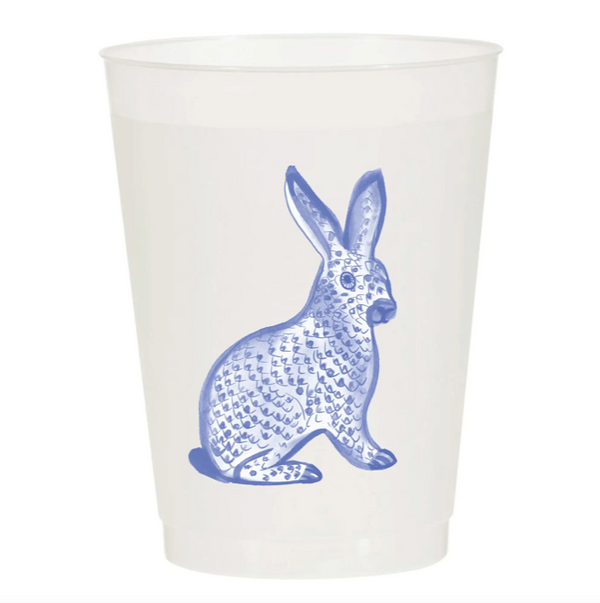 Watercolor Reusable Cups, Set of 10 - Herend Bunny Blue