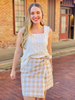 Piper Skirt - Taupe/White Plaid