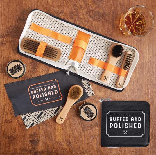Two's Company Buffed & Polished Shoe Shine Kit