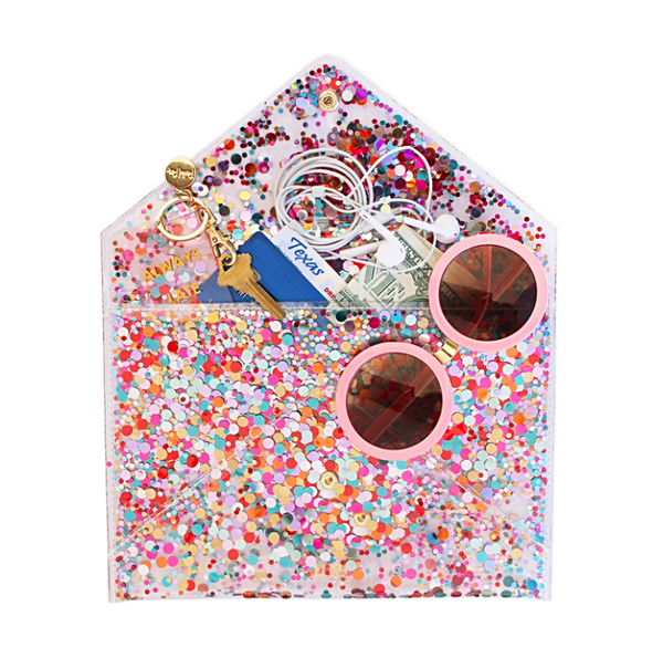 Packed Party Envelope Clutch - Multi Confetti