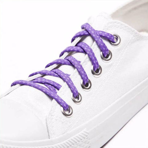 Cute Laces - Purple Polka Dots