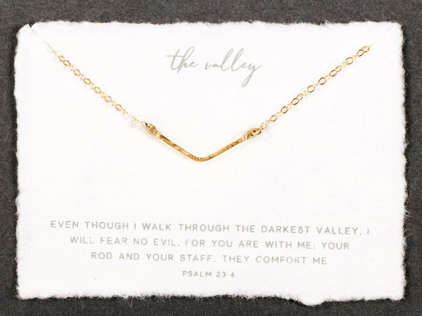 Dear Heart Designs Mini Valley Necklace - Gold