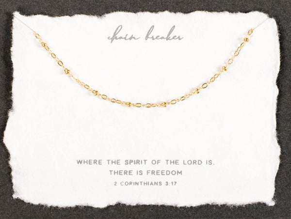 Dear Heart Designs Chain Breaker Necklace - Gold
