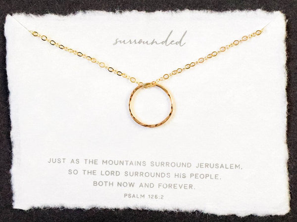 Dear Heart Designs Surrounded Necklace - Gold