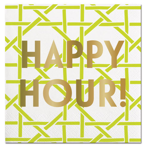 Cocktail Napkin - Happy Hour!