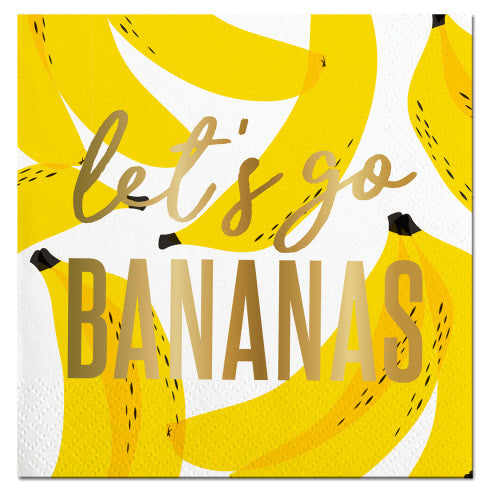 Cocktail Napkin - Let's Go Bananas