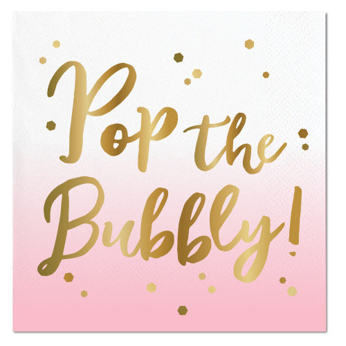 Cocktail Napkin - Pop The Bubbly!