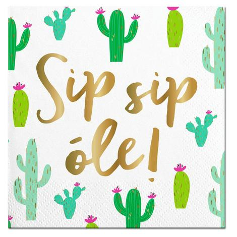 Cocktail Napkin - Sip Sip Ole!