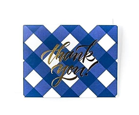 Sweet Caroline Notecard Set - Blue Gingham