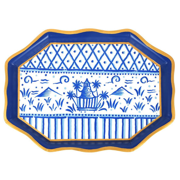 Jaye's Studio Tea Tray - Blue Pagoda