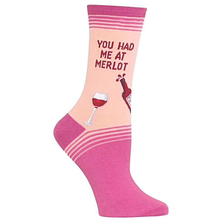 Hot Sox Women's Socks - You Had Me At Merlot