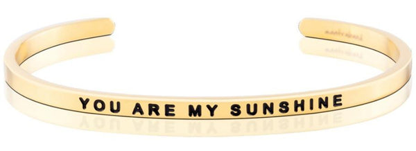 MantraBand You Are My Sunshine Bracelet - Gold