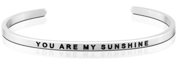 MantraBand You Are My Sunshine Bracelet - Silver