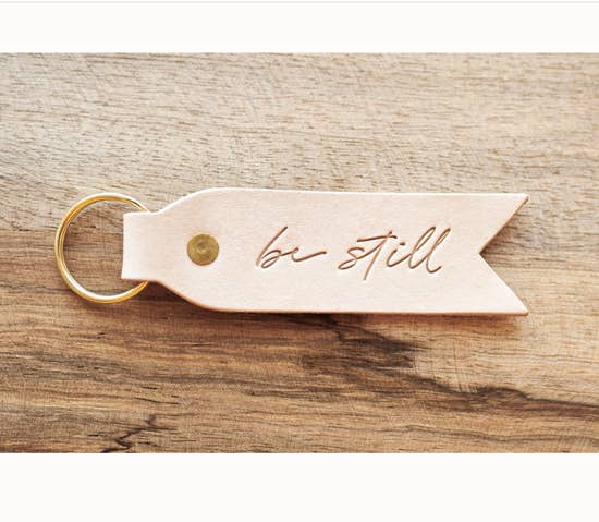 Dear Heart Blonde Leather Key Fob - Be Still