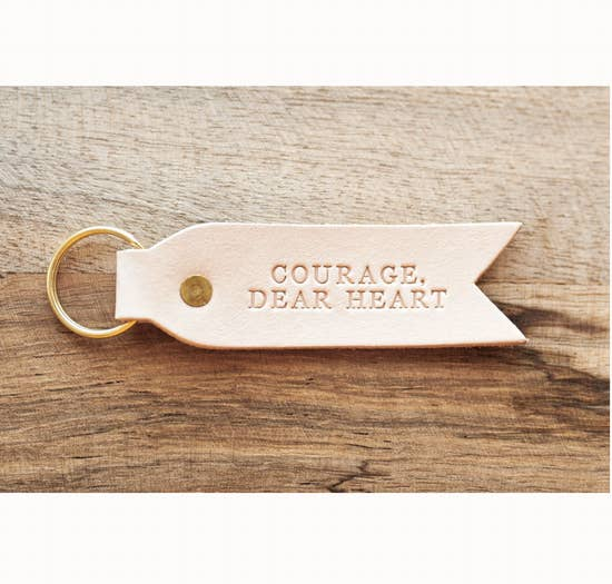 Dear Heart Leather Key Fob - Courage Dear Heart