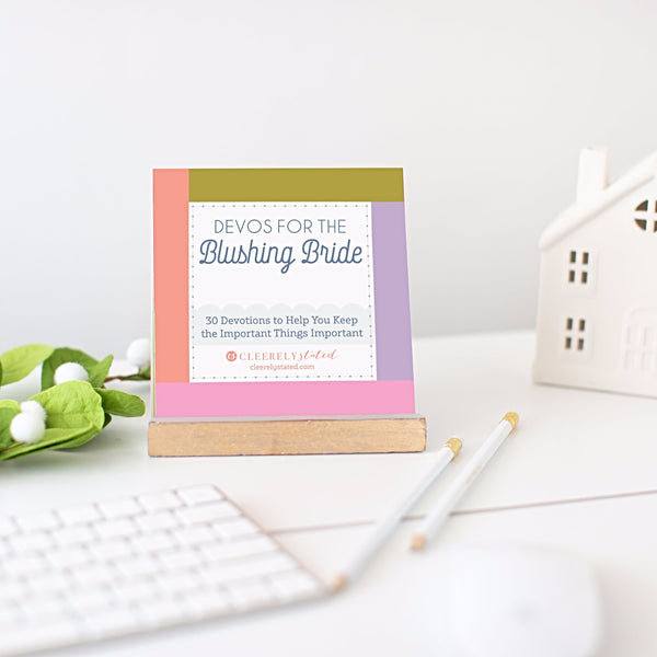 Cleerely Stated Devotional Cards - Devos For The Blushing Bride