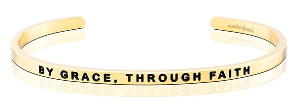 MantraBand By Grace, Through Faith - Gold