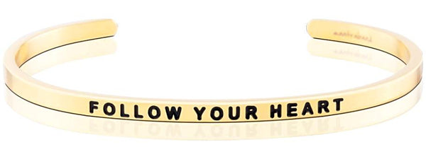 MantraBand Follow Your Heart - Gold