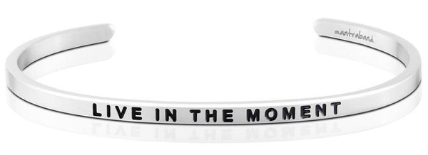 MantraBand Live in the Moment Bracelet - Silver