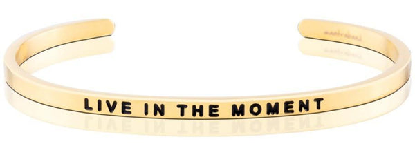 MantraBand Live in the Moment Bracelet - Gold