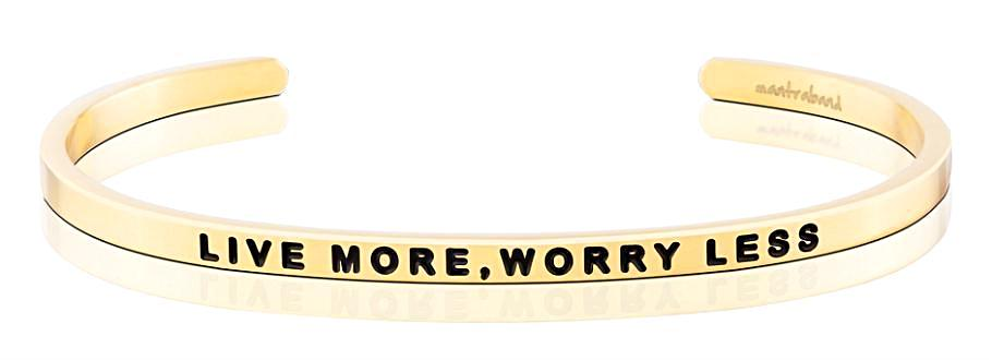 MantraBand Live More, Worry Less - Gold