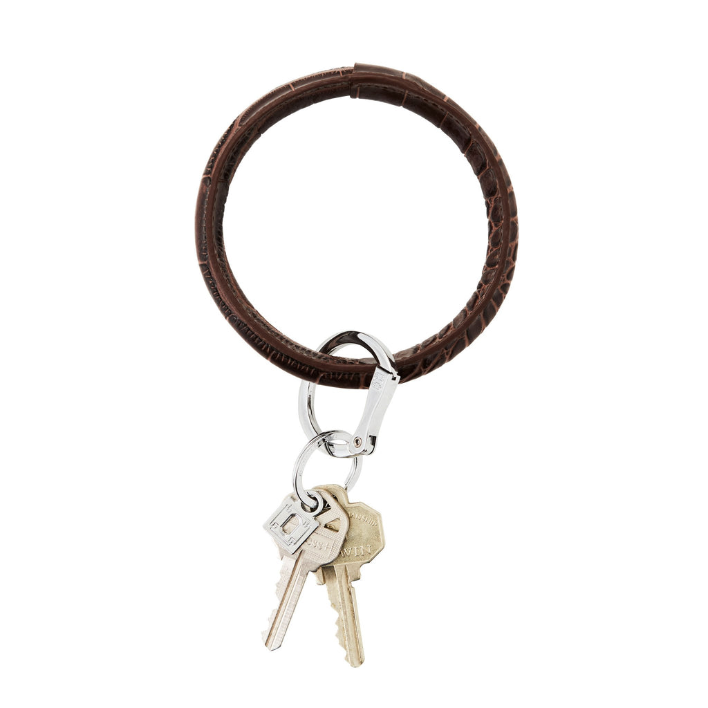 Big O Key Ring - Chocolate Diamond Croc