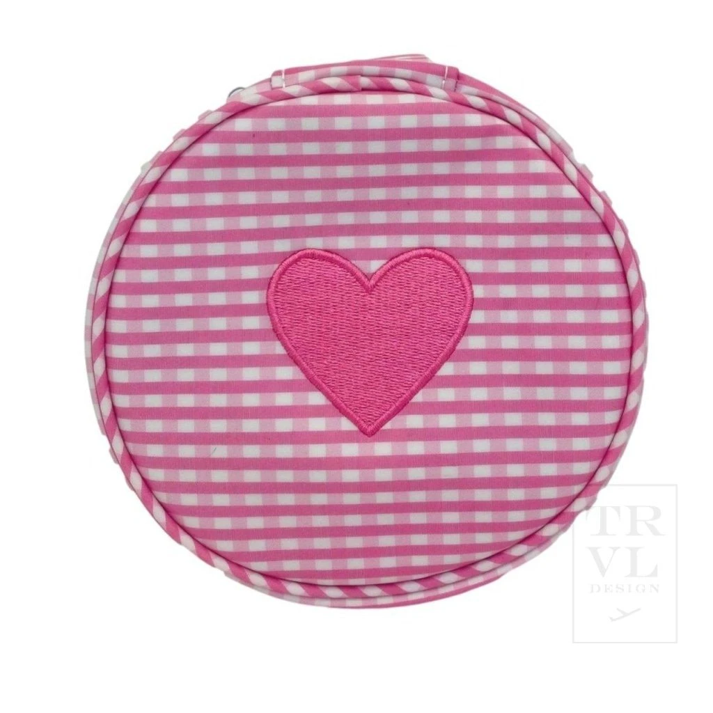 TRVL Design Heart U! Round Up - Pink Gingham