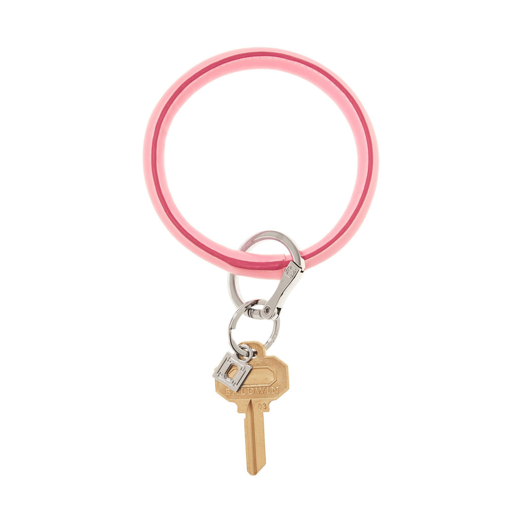 Big O Key Ring - Cotton Candy Leather