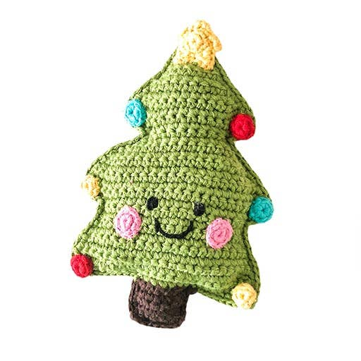 Pebble Rattle - Christmas Tree