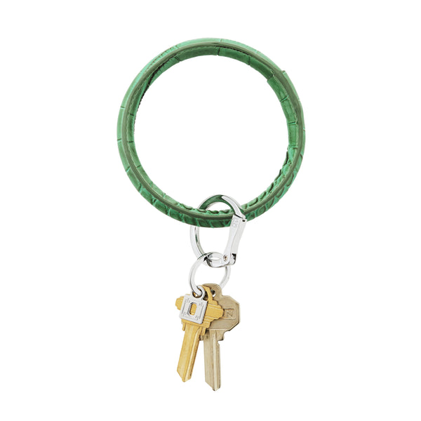 Big O Key Ring - Emerald Green Croc