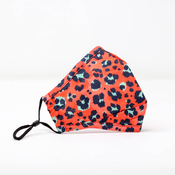 Stylish Face Mask - Red Leopard