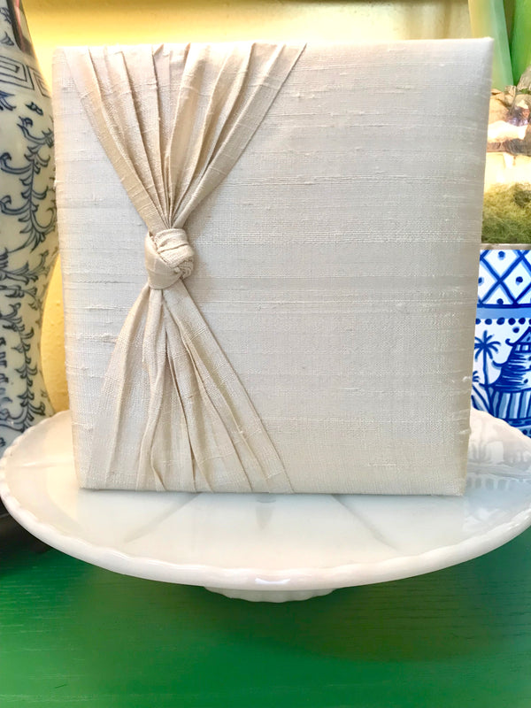 Jan Sevadijan Photo Album - Ivory Dupioni Silk